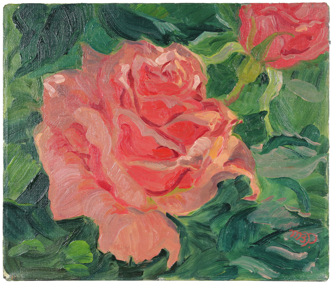 <i>Picture Roses</i><br>1960s Oil<br><br>#A6319