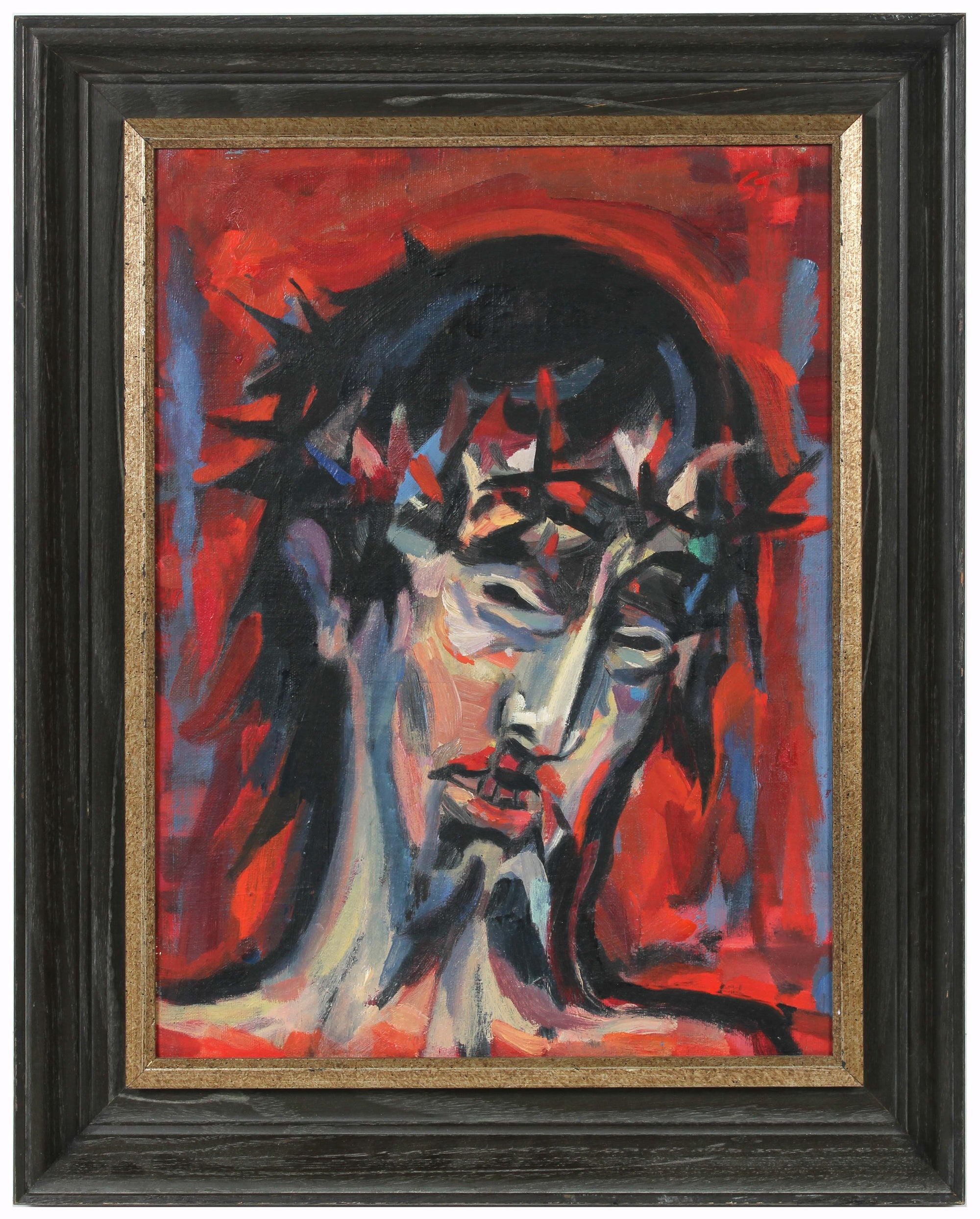 <i>Head of Christ</i><br>Circa 1953 Oil<br><br>#A6322