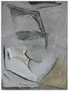 Gray Subdued Abstract<br>1950s-1960s Acrylic and Charcoal<br><br>#A6332