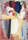 Abstract Patterned Still Life<br>1943 Gouache and Graphite<br><br>#A6717