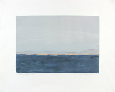 <i>The View to the Shore</i> <br>2014 Monotype Landscape <br><br>#A7123