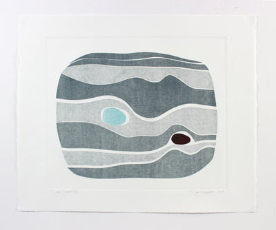 <i>River Stones VII</i> <br>2018 Monotype <br><br>#A7143