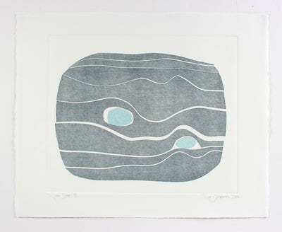 <i>River Stones IX</i> <br>2018 Monotype <br><br>#A7146