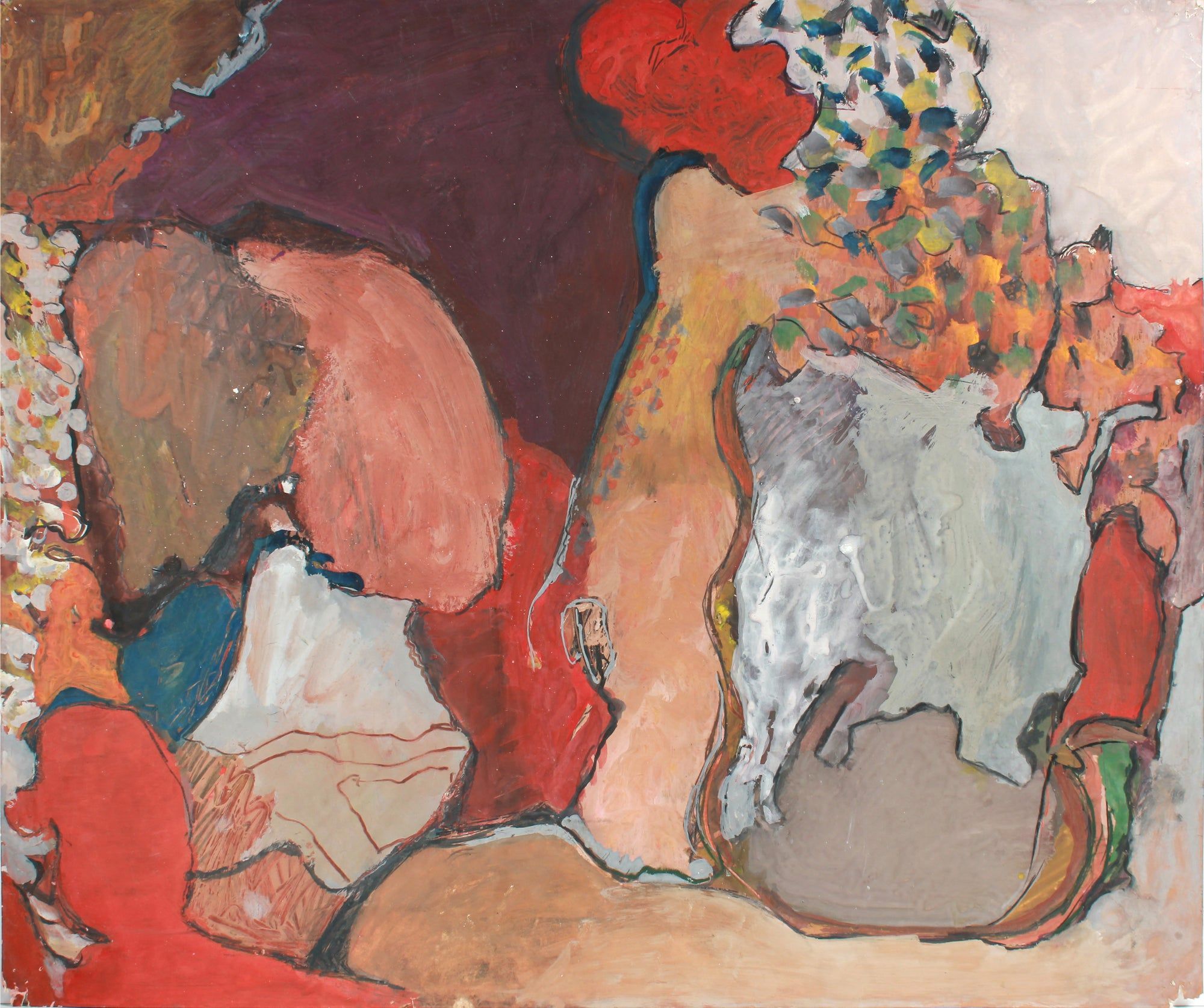 San Francisco Abstract Expressionist Painting <br>1960-70s Oil <br><br>#A7221