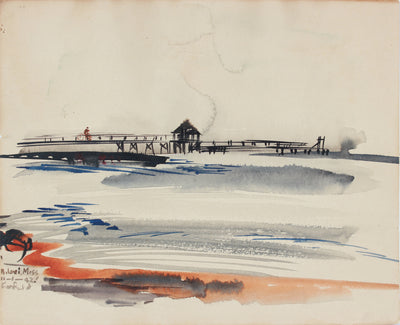 <i>Bilox, Mississippi </i><br> Early 20th Century Watercolor <br><br>#A7293
