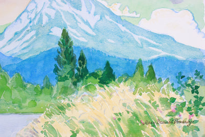 <i>Mount Shasta Before The Rain</i> <br> 2003 Watercolor <br><br>#A7385