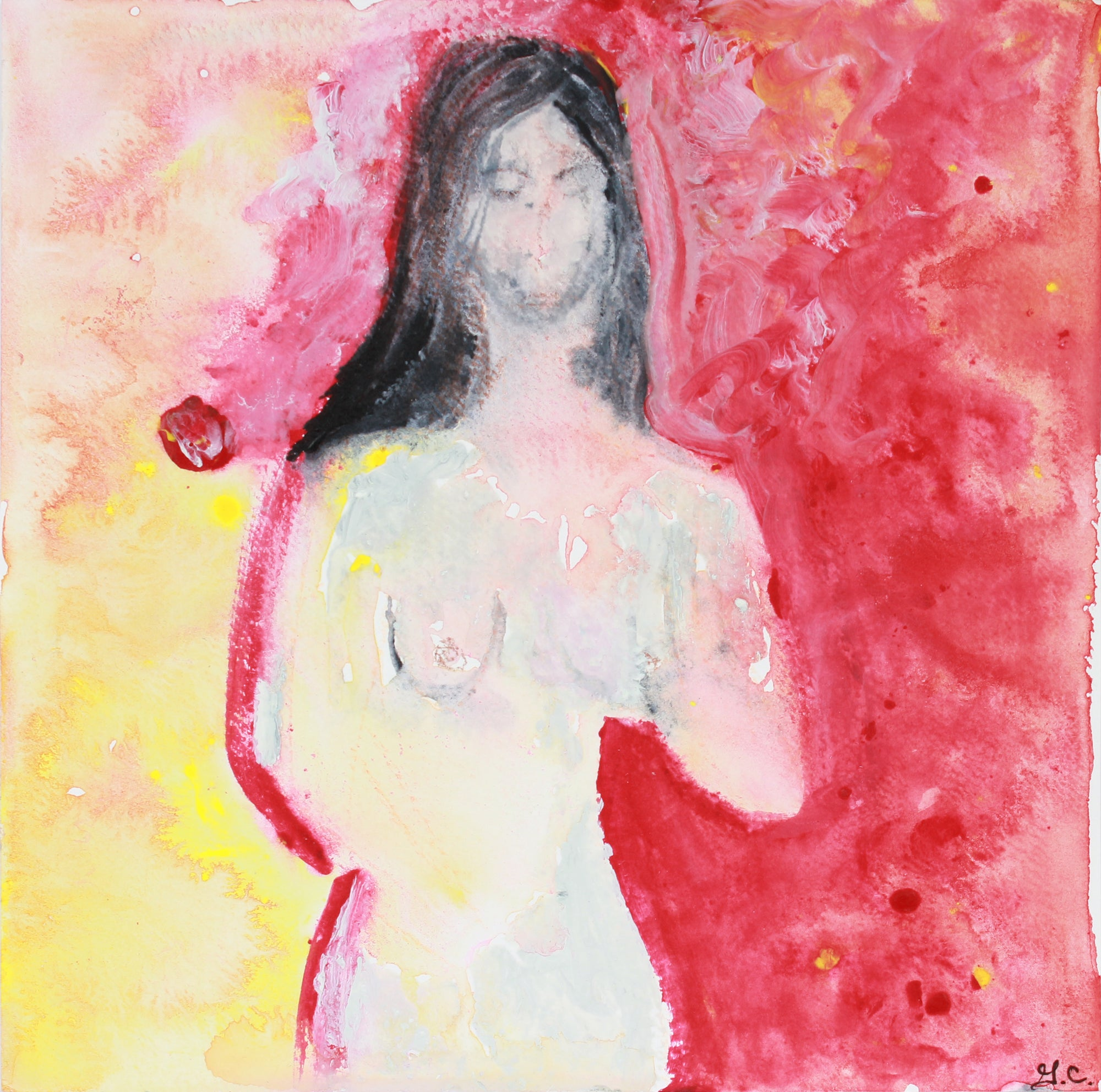 <i>Suzana Red</i> <br>2018-19 Mixed Media <br><br>#A7442