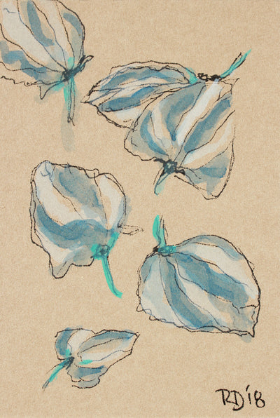 <i>Little Plants of Big Sur VI</i> <br>2018 Ink & Gouache on Paper <br><br>#A7484