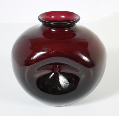 Deep Maroon Amorphic Vase <br>20th Century Glass <br><br>#A7539