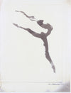 Leaping Abstracted Dancer <br>Mid 20th Century Photocopy <br><br>#A7618