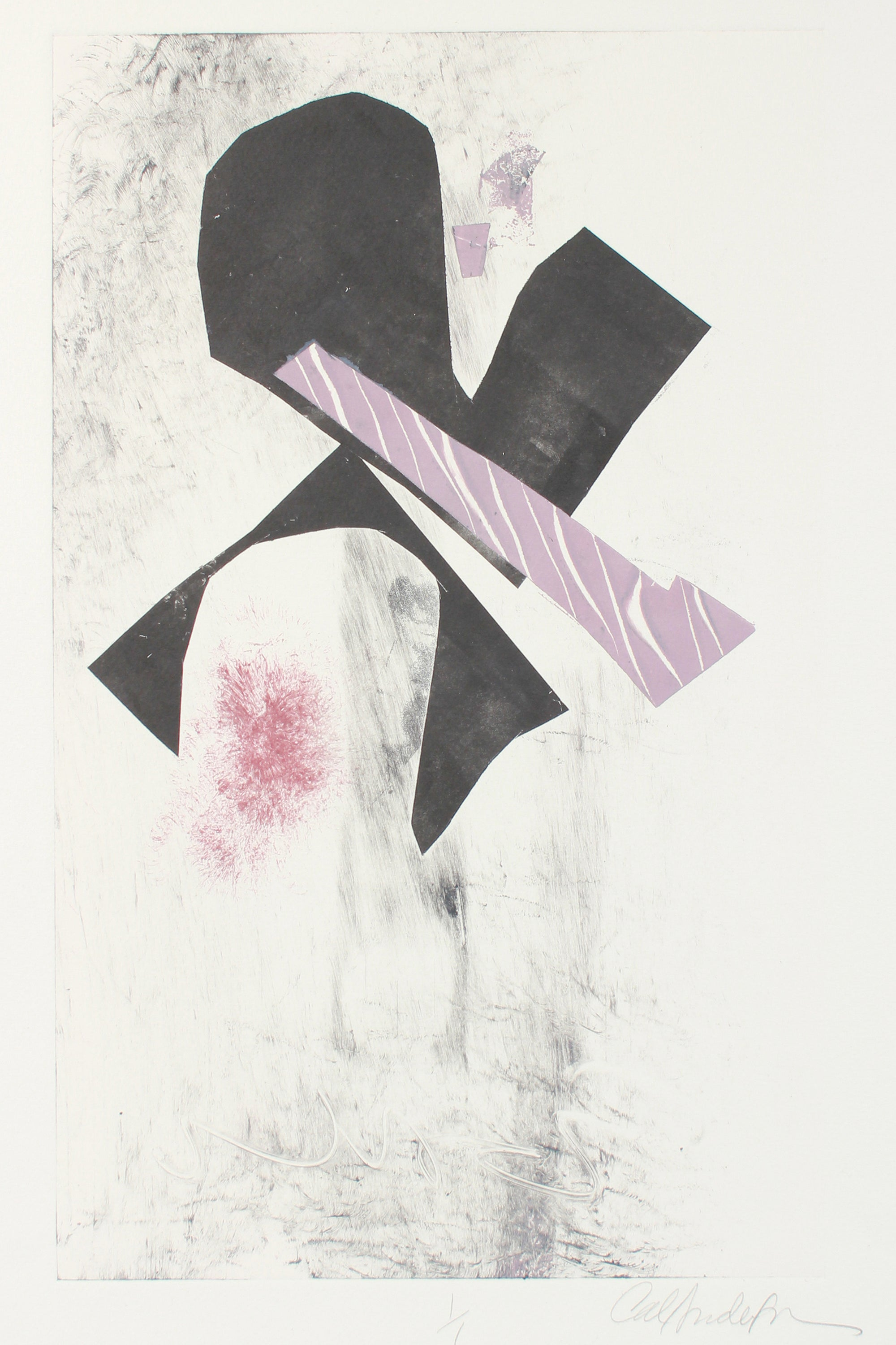 Muted Abstract Composition <br>20th Century Monotype <br><br>#A7634