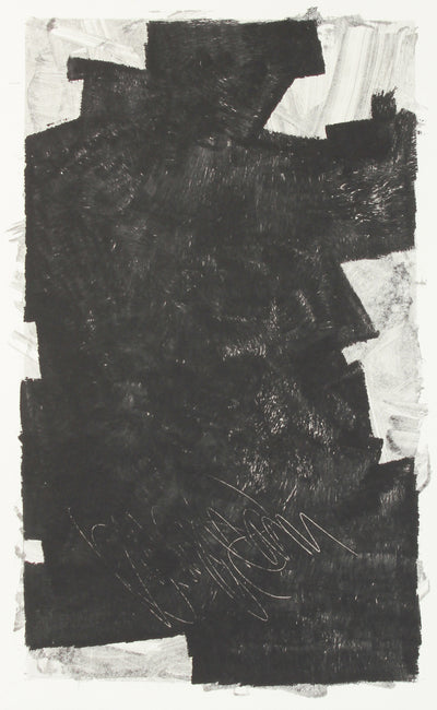 Blocky Modernist Monochrome Abstract<br>1990-2000s Monotype <br><br>#A7644