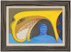 Playful Surrealist Composition <br>1990 Oil <br><br>#A7738