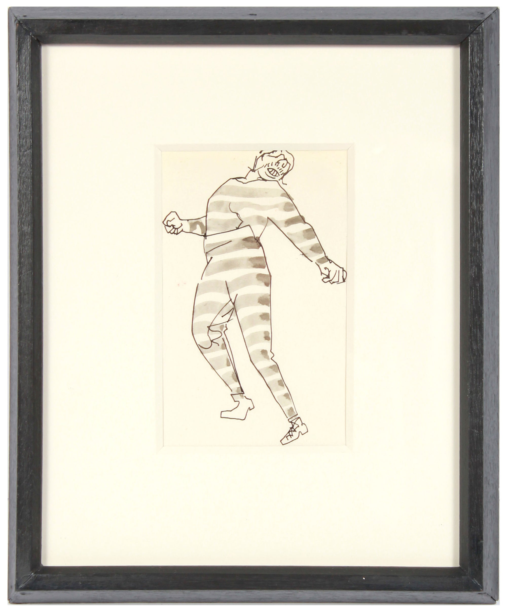 Dancing Striped Pajamas <br>1960s Ink on Paper <br><br>#A7763