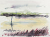 Distant Cityscape in Abstraction <br>Mid-Late 20th Century Watercolor <br><br>#A7769