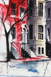 San Francisco Painted Ladies <br>Mid-Late 20th Century Watercolor <br><br>#A7792