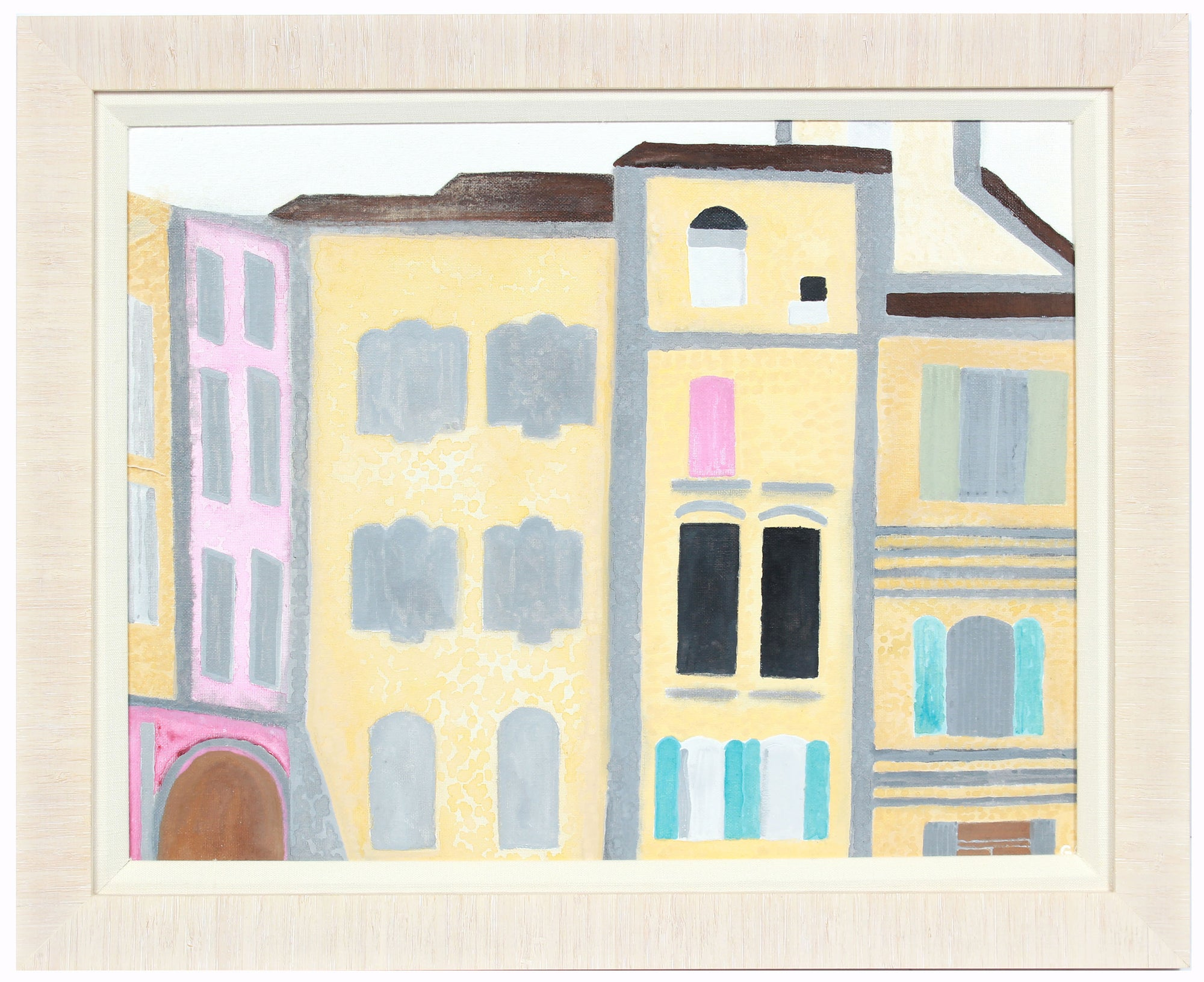 <i>Sommières Moderne</i> <br>2018 Gouache, South of France <br><br>#A7833
