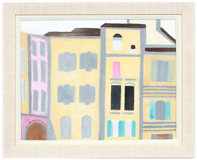 <i>Sommieres Moderne</i> <br>2018 Gouache, South of France <br><br>#A7833