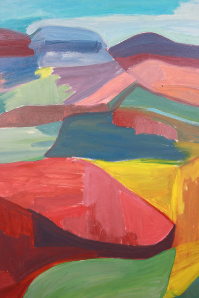 <i>The Canyon</i> <br>1986 Oil Abstract <br><br>#A7872