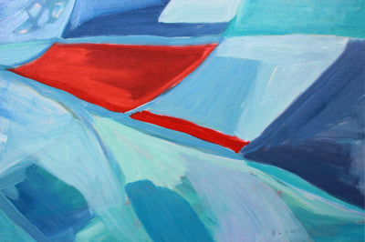<i>Golden Gate Bridge</i> <br>1986-87 Oil Abstract <br><br>#A7875