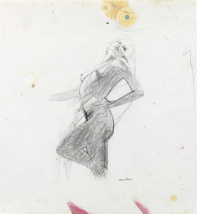 Dancers Pose - Study <br>Late 20th Century Graphite <br><br>#A7976