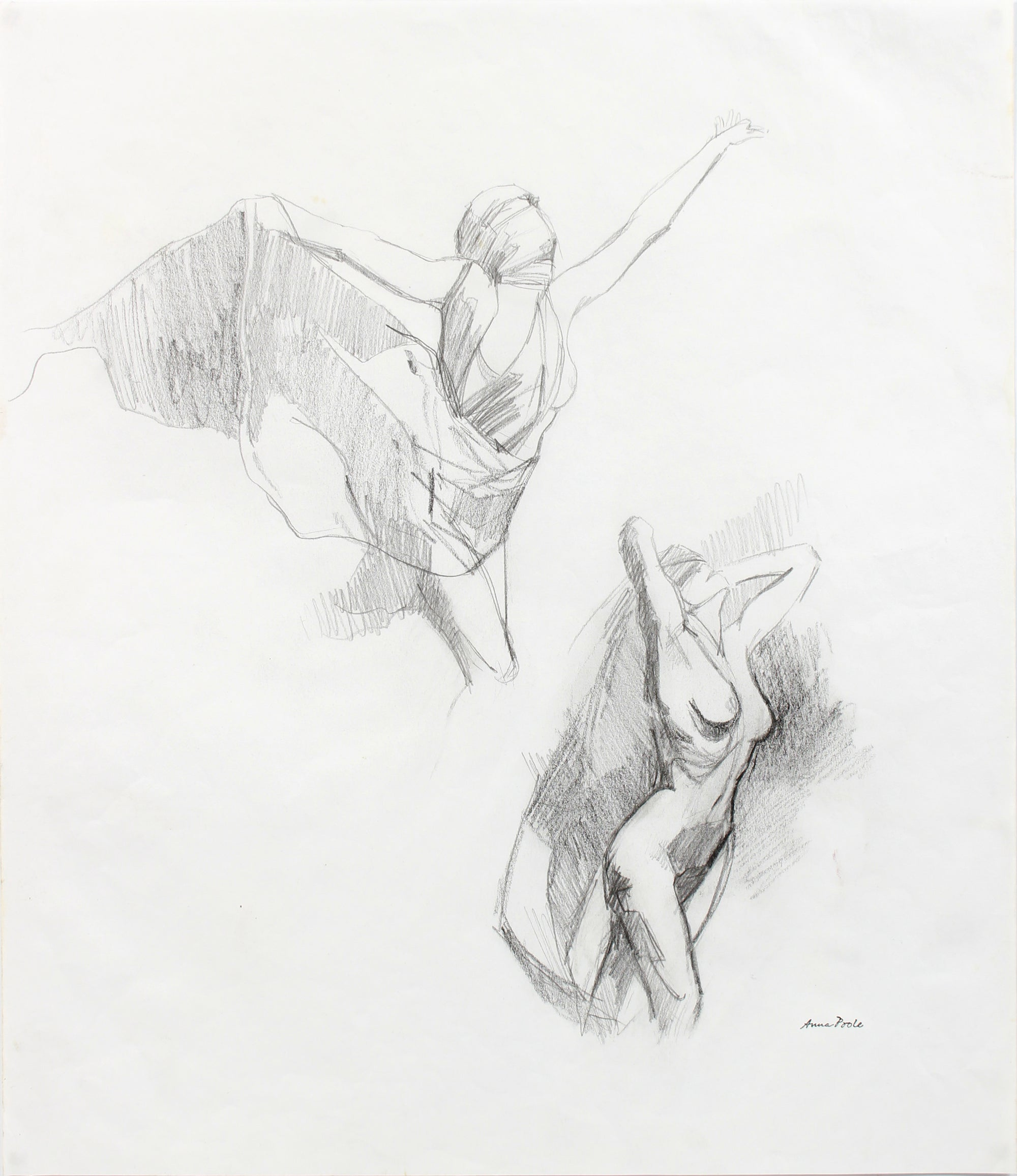 Spectral Female Nude Studies <br>20th Century Graphite <br><br>#A7978