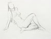 Female Nude in Repose <br>20th Century Charcoal <br><br>#A7983
