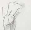 Leaning Female Form <br>20th Century Charcoal <br><br>#A7984