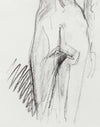 Aloof Standing Female Nude <br>20th Century Charcoal <br><br>#A7986