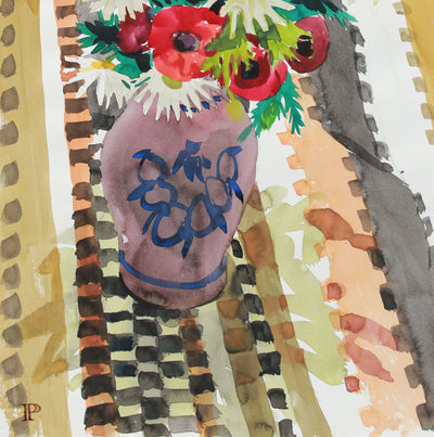 <i>Birthday Bouquet</i>, Watercolor <br>March 3, 1965 <br><br>#A8022