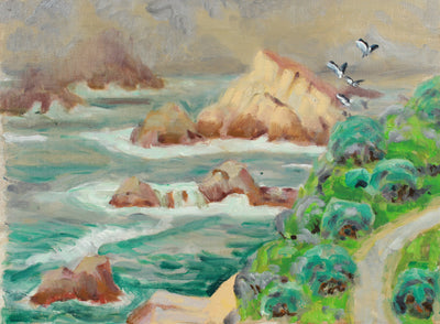 Seaside Highway & Seagulls <br>20th Century Oil <br><br>#A8030