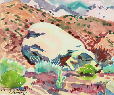 <i>Above Peña Spring</i> <br>1982 Watercolor <br><br>#A8034