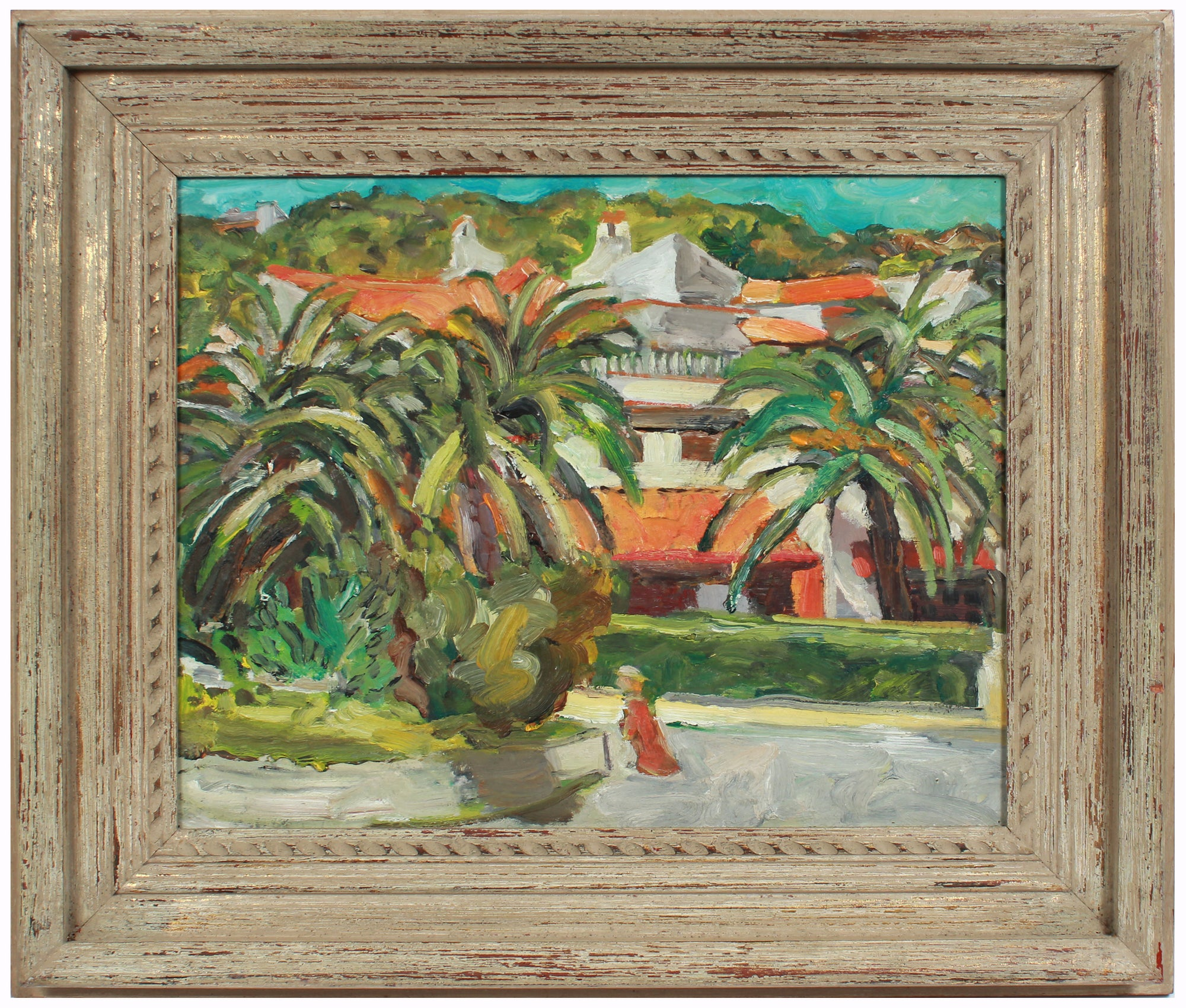 <i>Augusta Neighborhood</i> <br>2000 Oil Scene <br><br>#A8198