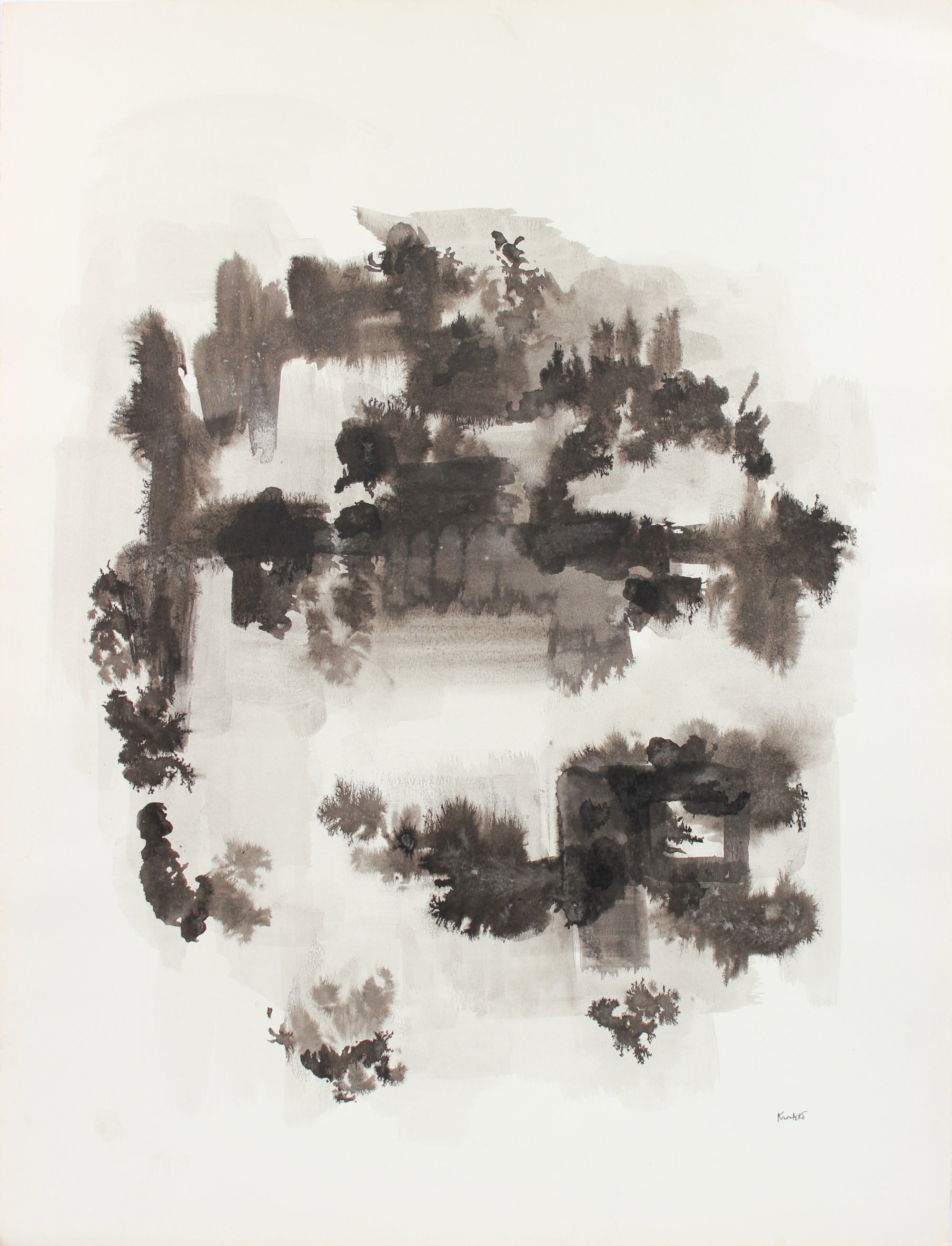 Misty Monochrome Forms <br>1960-80s Ink <br><Br>#A8305