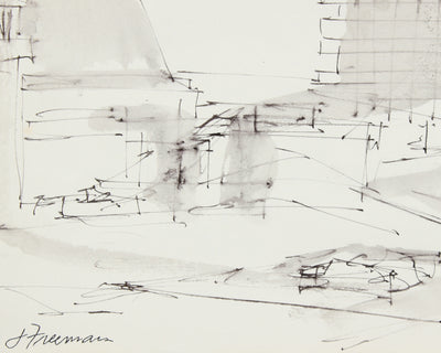 Industrial San Francisco Abstract <br>1976 Ink <br><br>#A8307