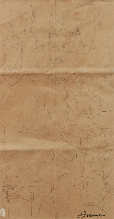 Brown Paper-Bag Figure Study <br>20th Century Ink <br><br>#A8311