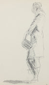 Modernist Sketched Figure <br>20th Century Graphite <br><br>#A8314