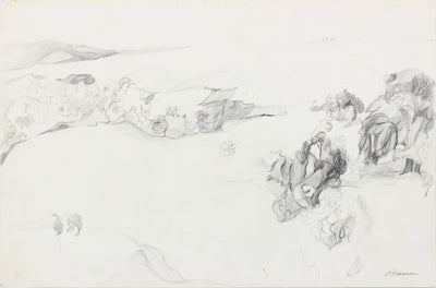 Abstracted California Landscape <br>20th Century Graphite <br><br>#A8320