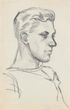 Quiet Contemplation <br>1940-50s Graphite <br><br>#A8419