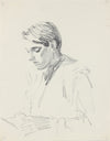 Quiet Portrait Study <br>1940-50s Graphite <br><br>#A8423