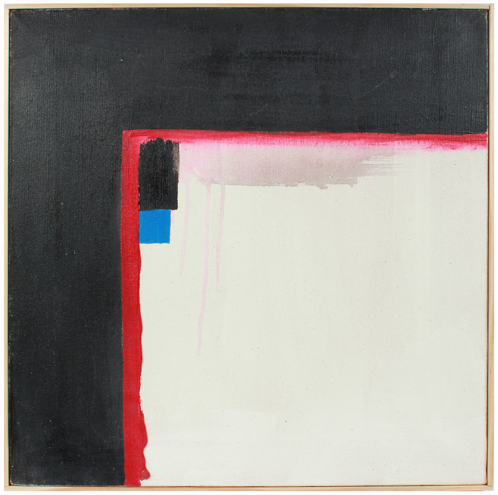<i>White Square Abstract</i> <br>20th Century Oil <br><br>#A8428