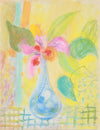 Colorful Floral Still Life <br>1940-50s Pastel <br><br>#A8463