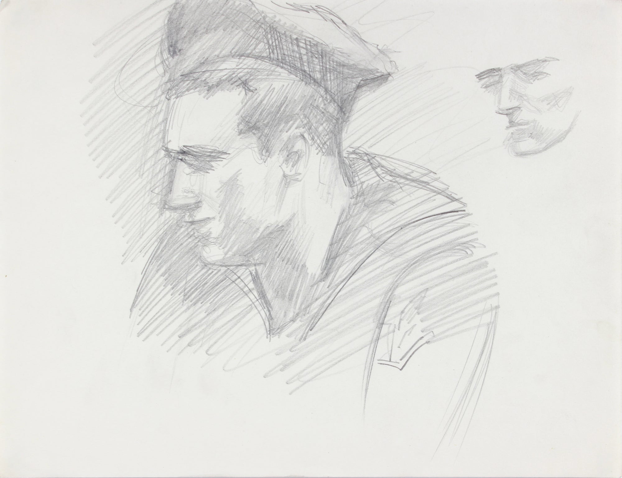 Sketch of a Soldier <br>1940-50s Graphite <br><br>#A8480