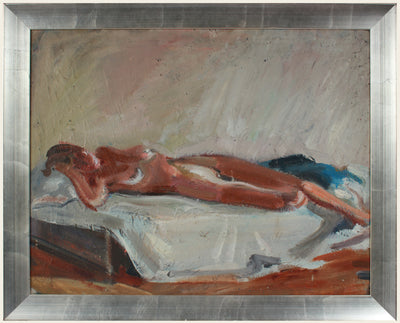 Reclining Abstracted Nude <br>1983 Oil <br><br>#A8539