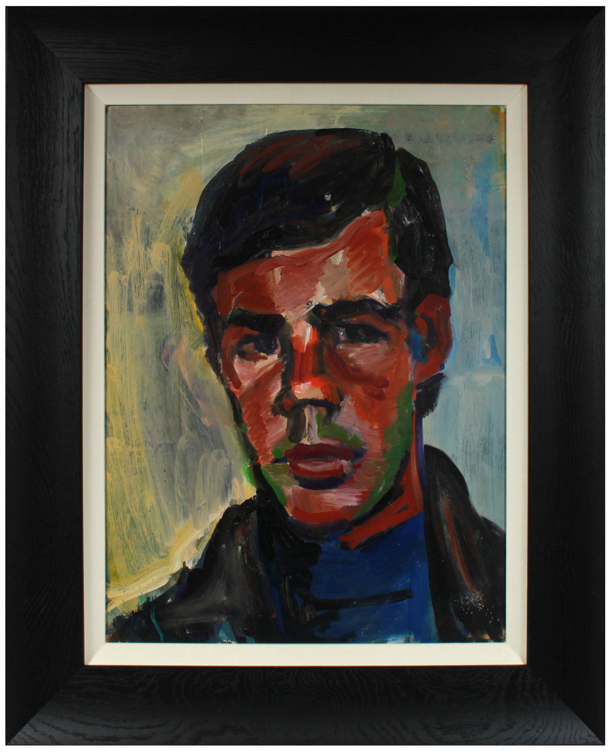 Expressive Male Portrait <br>1975 Oil <br><br>#A8749
