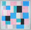 Abstract Squares & Rectangles - Pastel Study <br>Mid Century Oil <br><br>#A8807