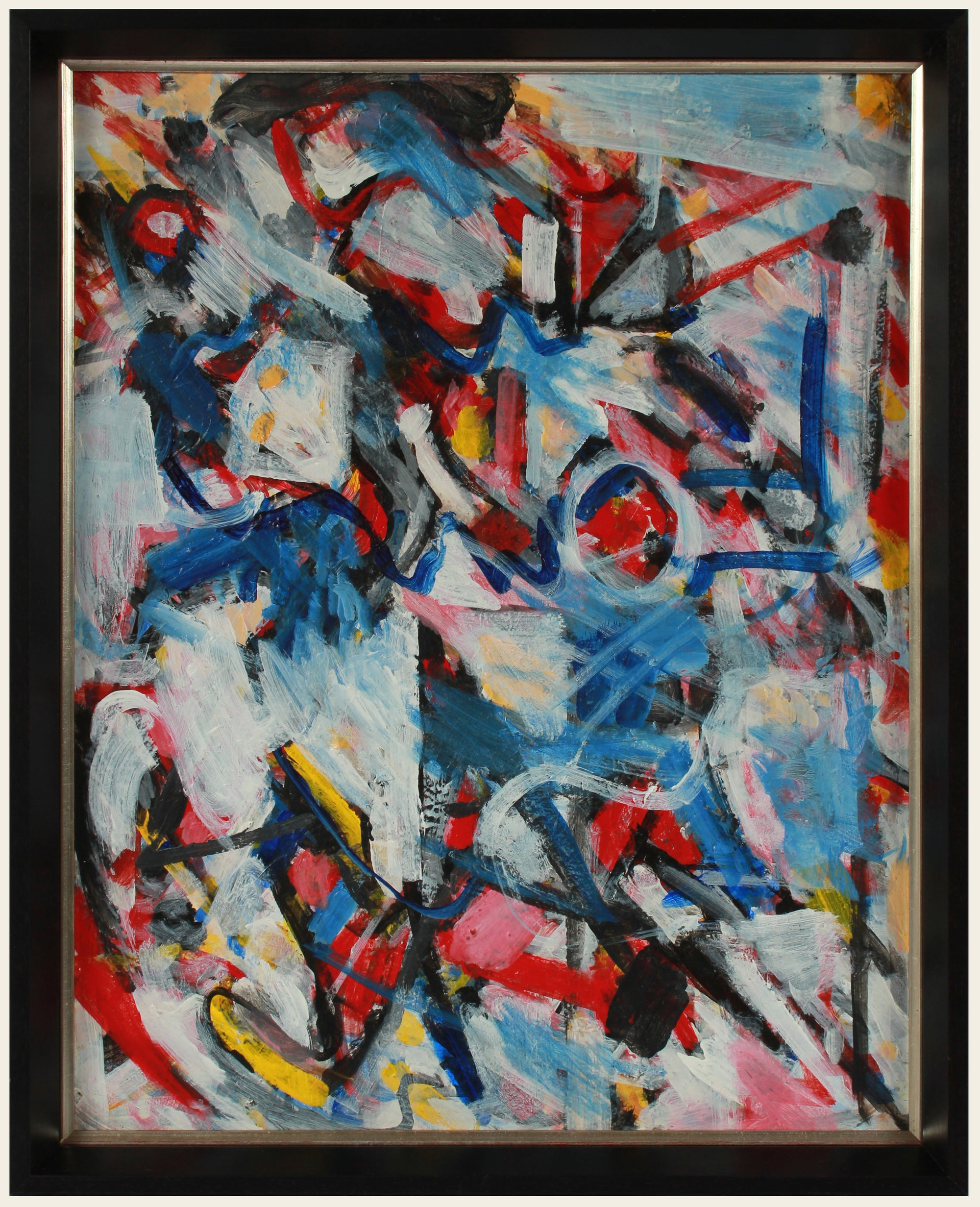 Bold Abstract Expressionist Painting <br>Early 2000s Acrylic <br><br>#A8879