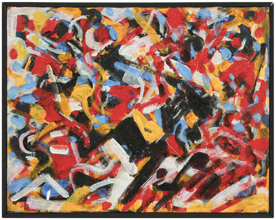 Frenetic Expressive Abstraction <br>Early 2000s Acrylic <br><br>#A8942