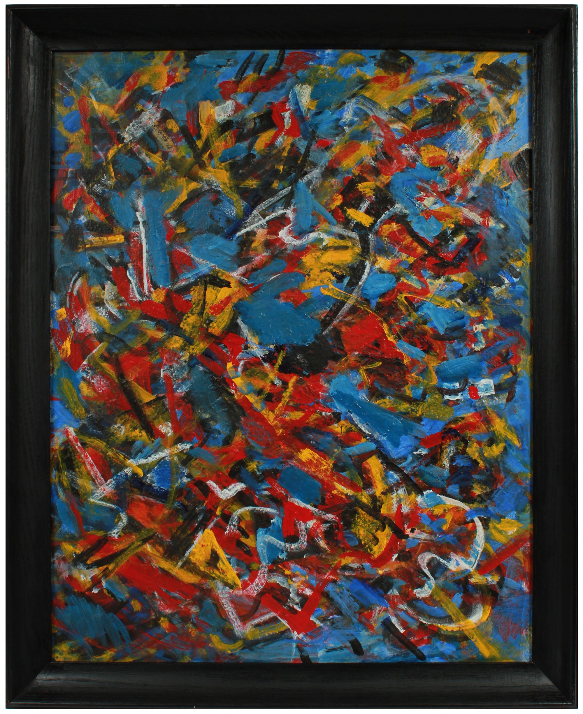 Expressive Abstract in Primary Colors <br>Early 2000s Acrylic <br><br>#A8950