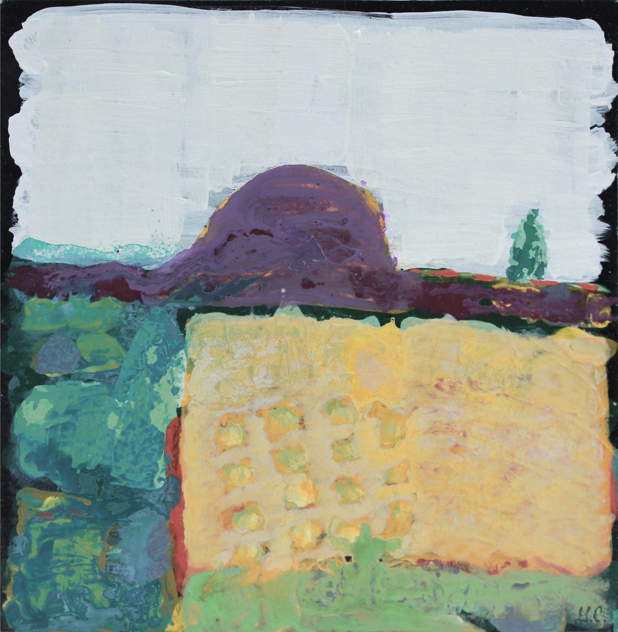 <i>The Orchard IV</i>, Mendocino, CA <br>2019 Acrylic & Walnut Oil <br><br>#A9009